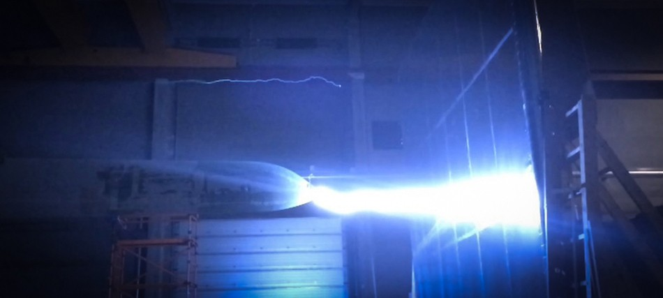Full scale high voltage lightning tests.